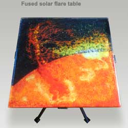 solar flare table seymourstainedglass.com