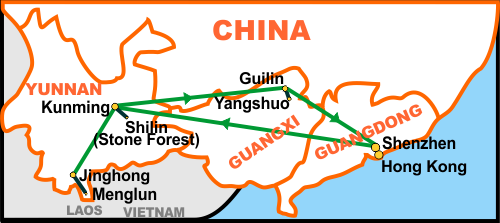 map of southern china